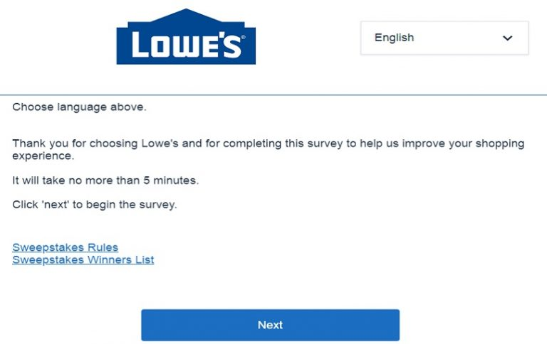 Win $500 Lowe's Survey Gift Card At lowes.com/survey