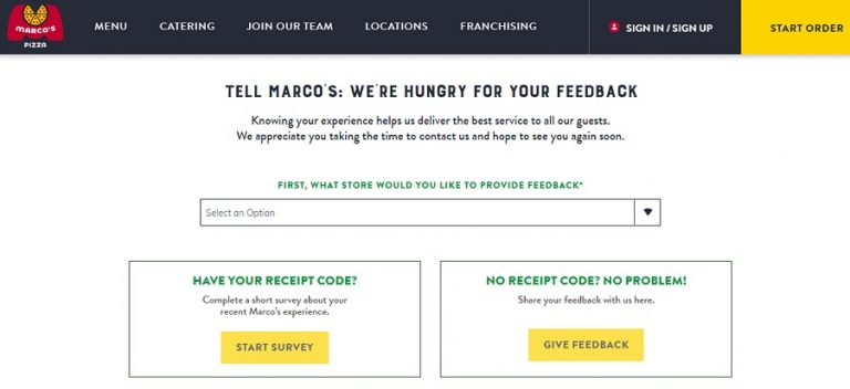 Tellmarcos Survey – Get Marco's Free Pizza Coupons